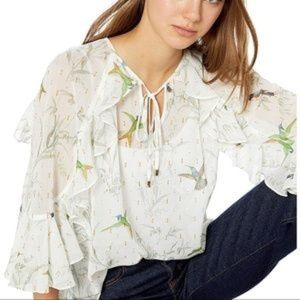fortune lassii  Frilly Gold Sparkle blouse US 2 NW